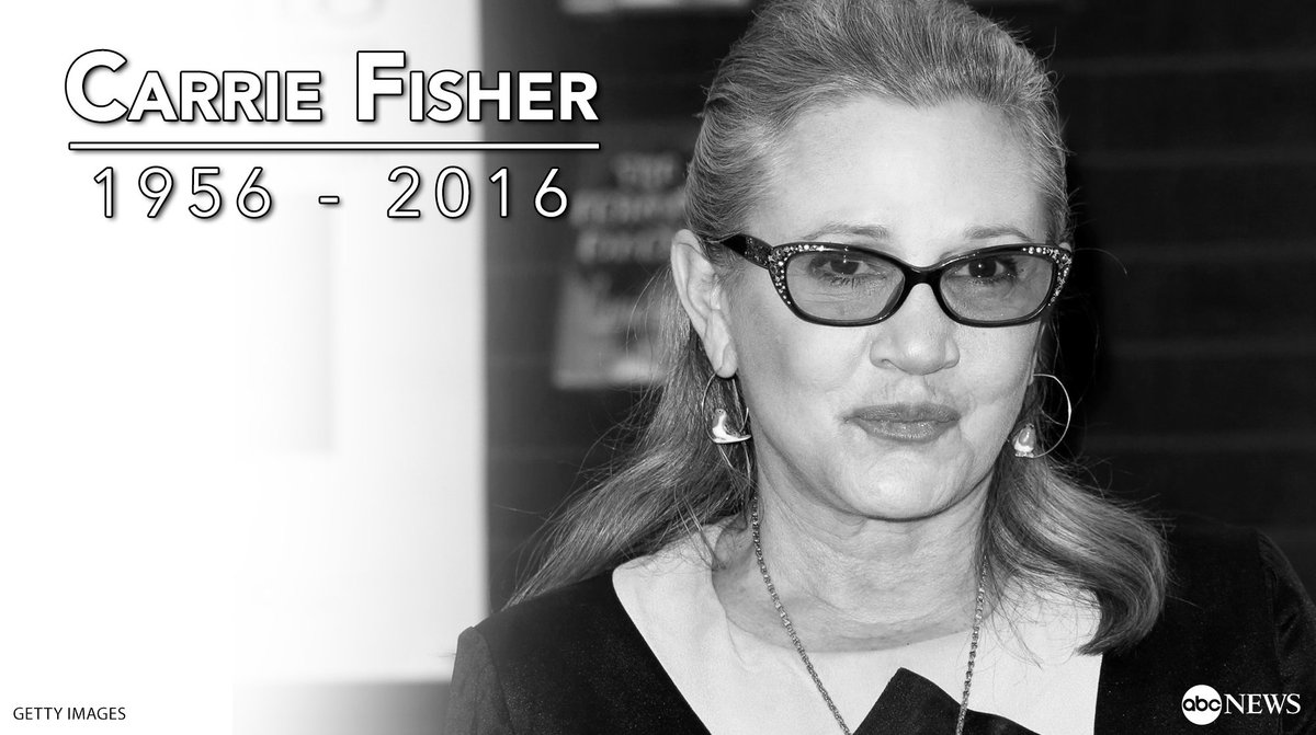 BREAKING: Carrie Fisher, legendary 'Star Wars' actress, has died at ag...