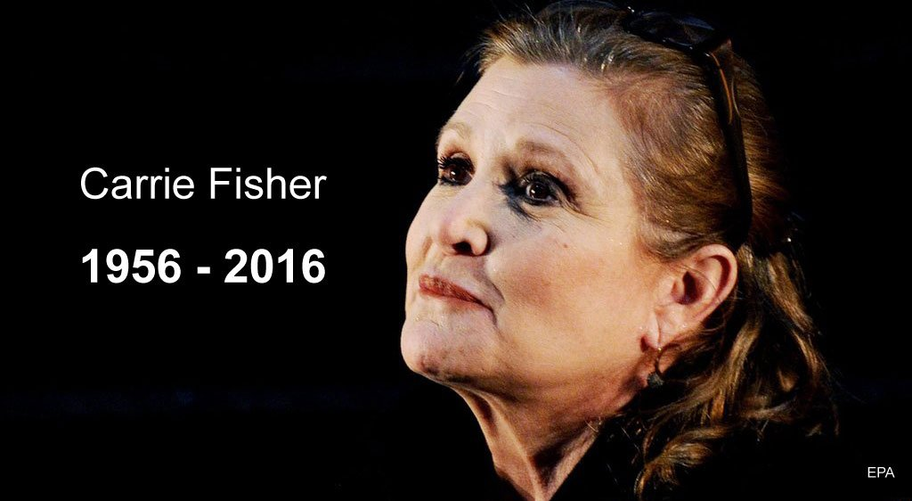 Actress Carrie Fisher, who played Princess Leia in the Star Wars films, dies at the age of 60 https://t.co/uOFIuzd1hc
