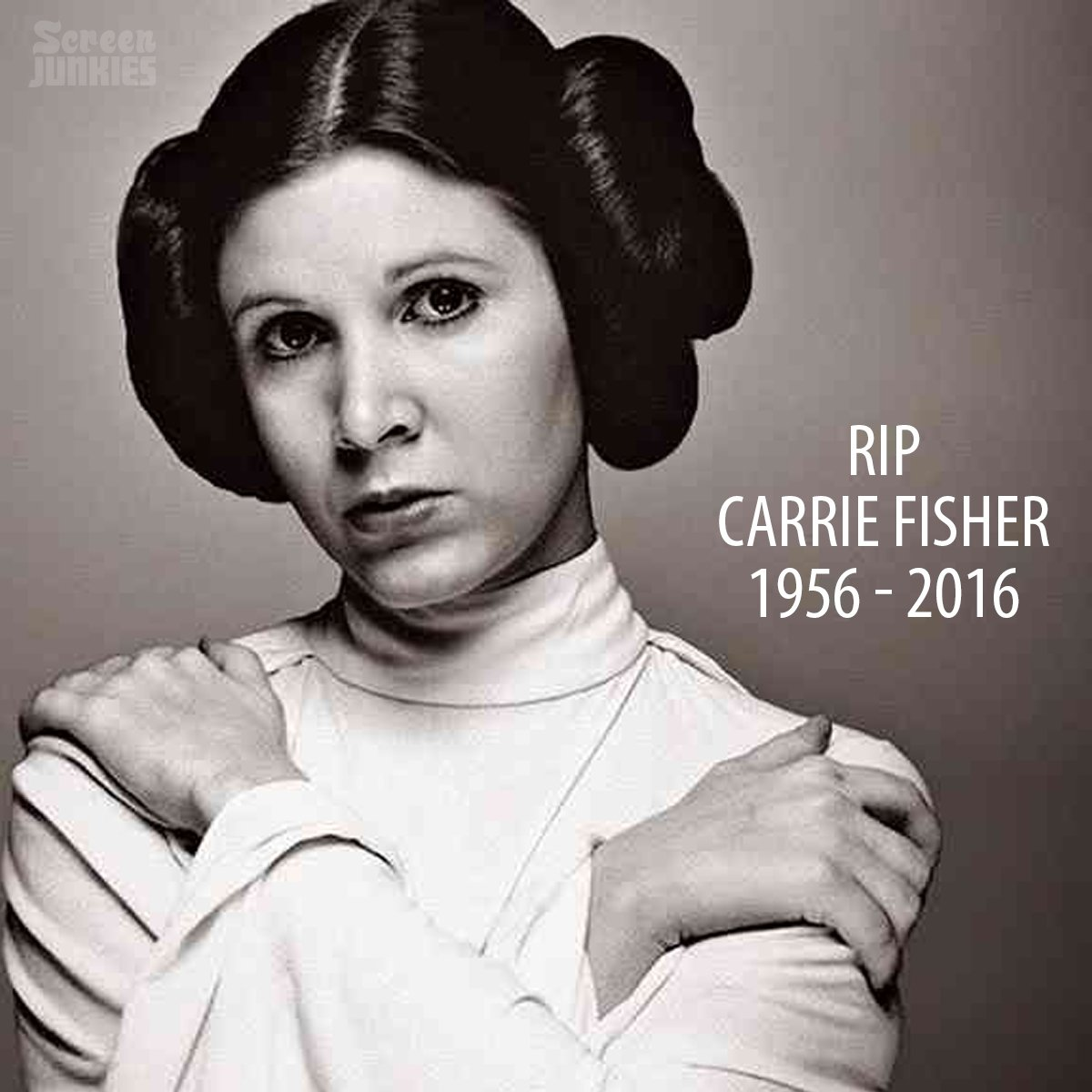 Today is a sad day for us all, Carrie Fisher is one with the force, and the force is with her. #RIPCarrieFisher https://t.co/uZ1uF9jBQP