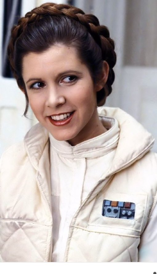 The only princess I ever wanted to be. #CarrieFisher