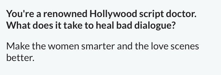 From the same @WebMD Q&A w/ Carrie Fisher, a funny & gifted writer...on fixing bad scripts.  https://t.co/TyLBiEiczE https://t.co/70J9CPtbJw