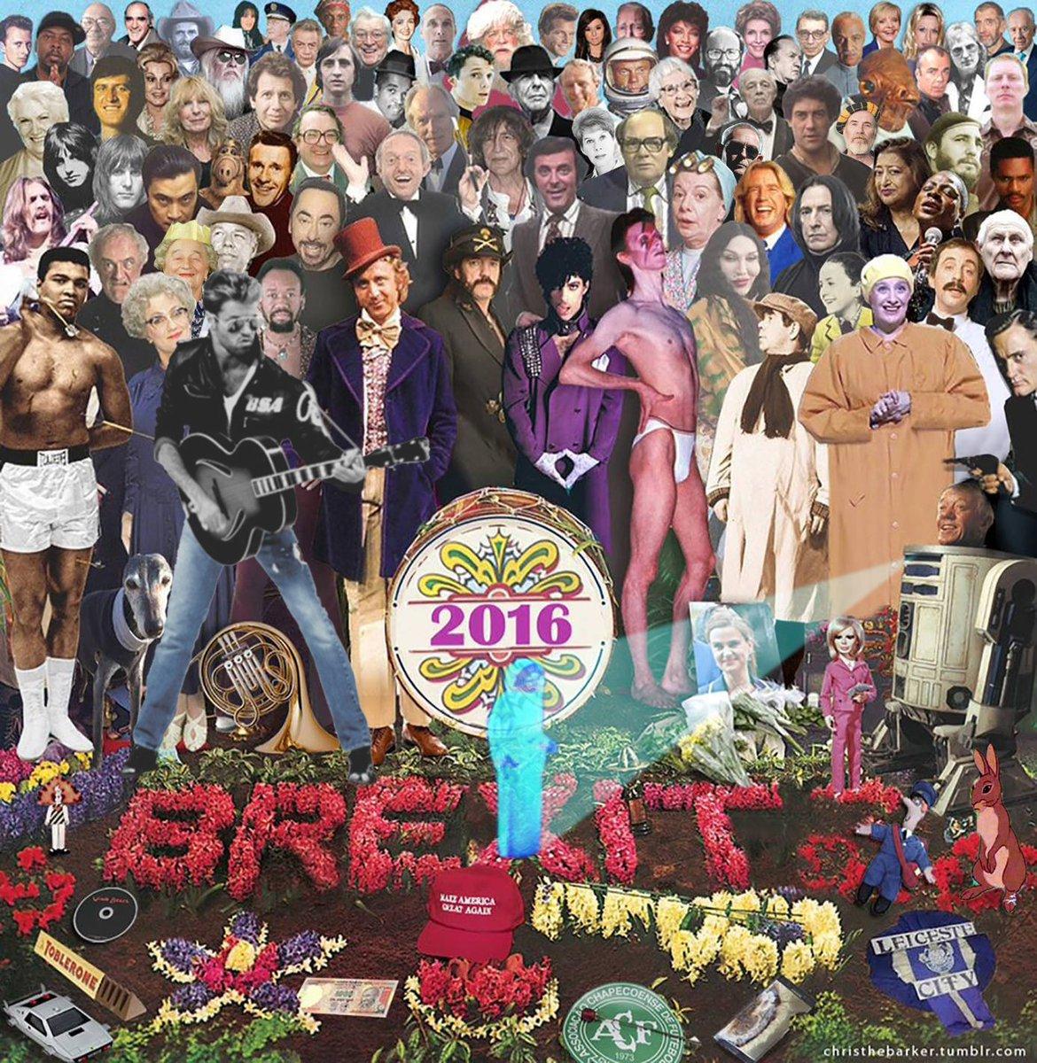 The Beatles Polska: Wspomnając tych, którzy odeszli w 2016 roku - kolaż Chrisa Barkera