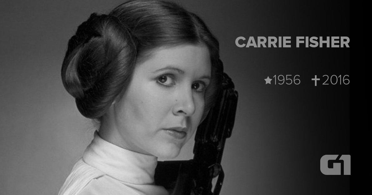 Carrie Fisher, a Princesa Leia, morre aos 60 anos https://t.co/e1Oh1eAuZX #G1 #RIP