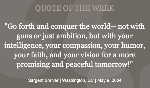 A hopeful quote from @RSargentShriver to end 2016. Here's to a more promising and peaceful 2017! https://t.co/28NSvmRb1R