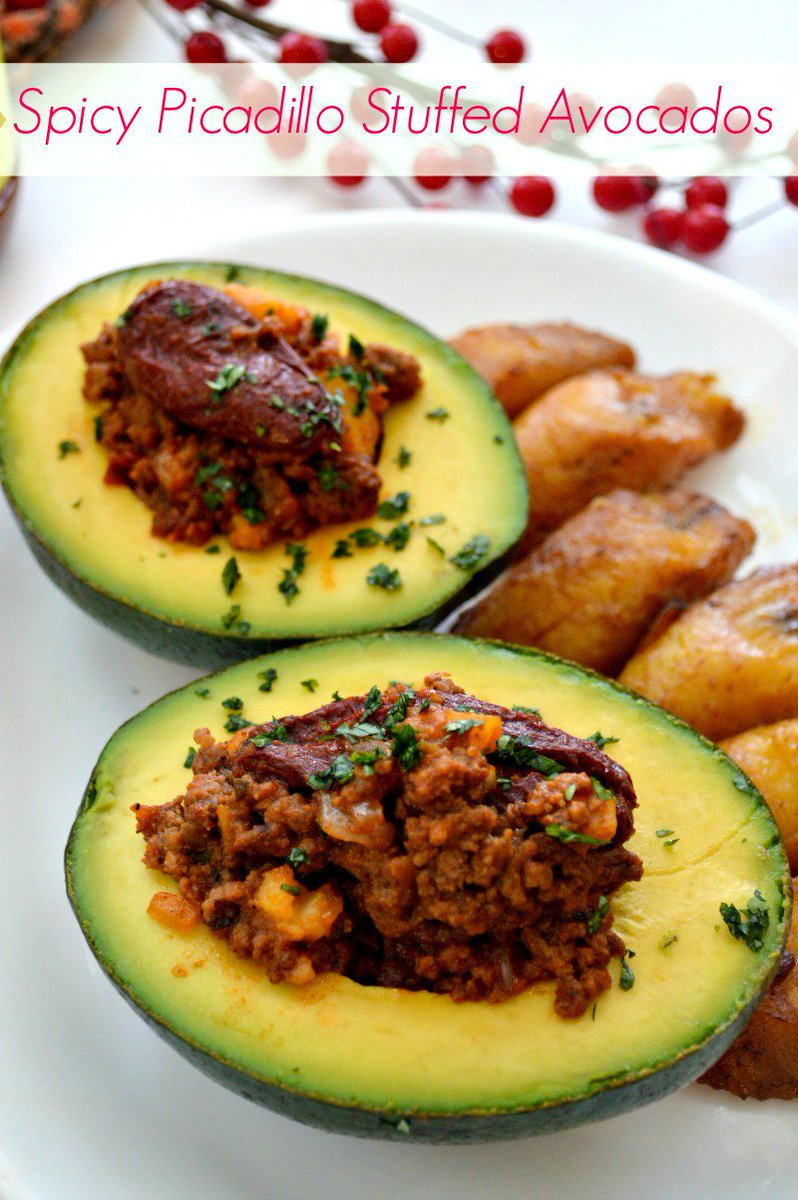 Spicy Picadillo Stuffed Avocados https://t.co/AGCMKlDUKv AD #AddFlavor https://t.co/3IHOCyAEXB