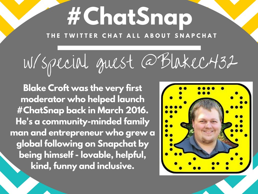 For our final #ChatSnap of the year, I'm thrilled to welcome a great friend who helped me launch this chat - @blakec432! Thank you, Blake! https://t.co/1edYRrpvPZ
