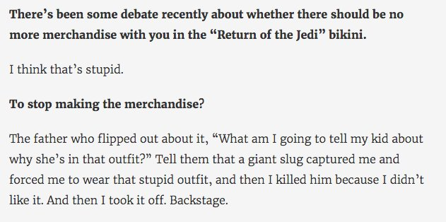 This is my favorite Carrie Fisher quote. https://t.co/bO3Uqjzmcr
