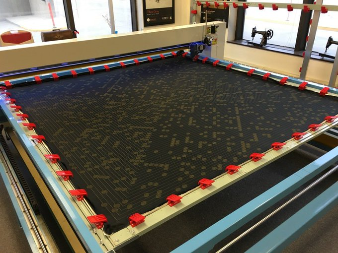 Check Out the Behemoth: an Oversized Robot That Makes Nerdy Quilts