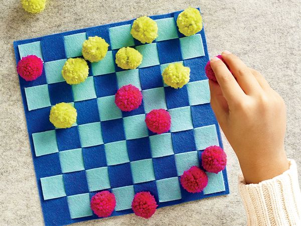Felt Craft: Checker Board