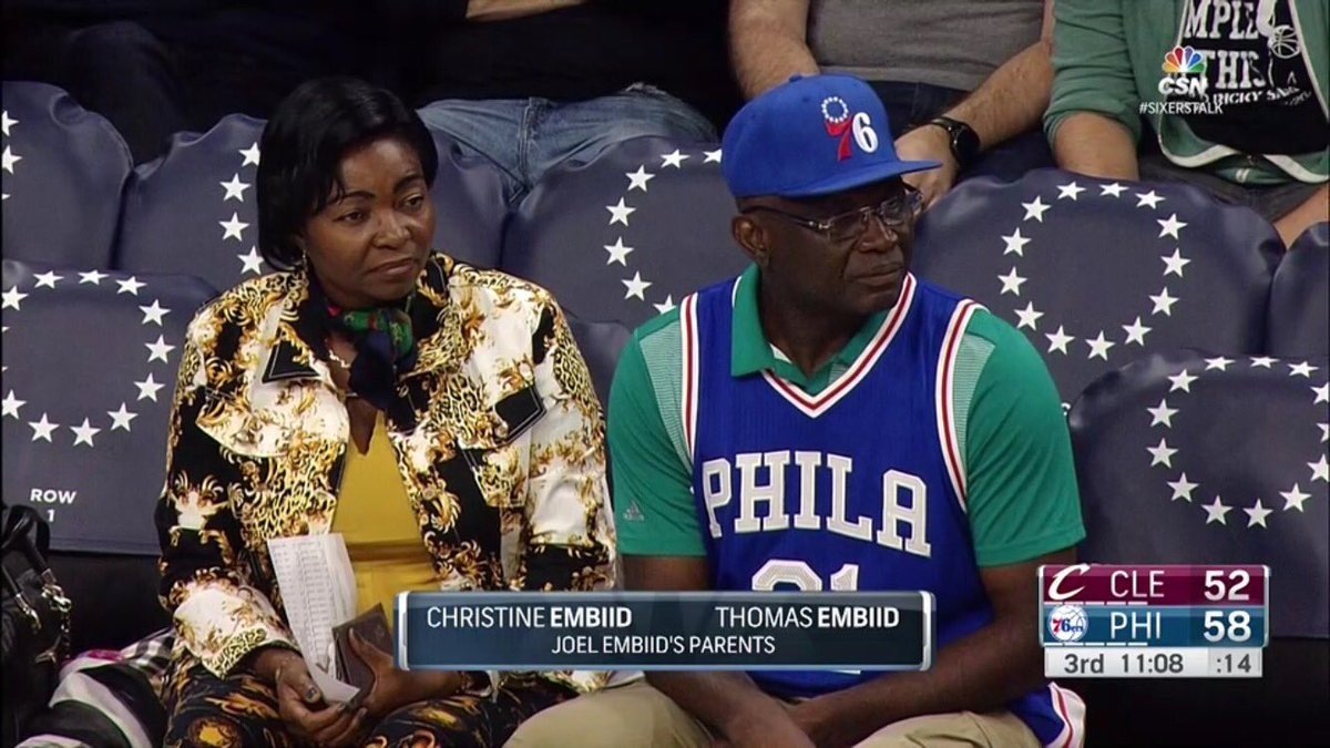 Picture of Joel  Embiid Parents, called Christine, Thomas