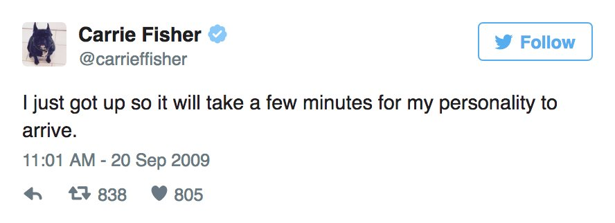 19 Tweets Of Carrie Fisher's That Should Absolutely Never Be Forgotten https://t.co/jxOnN7f2MX