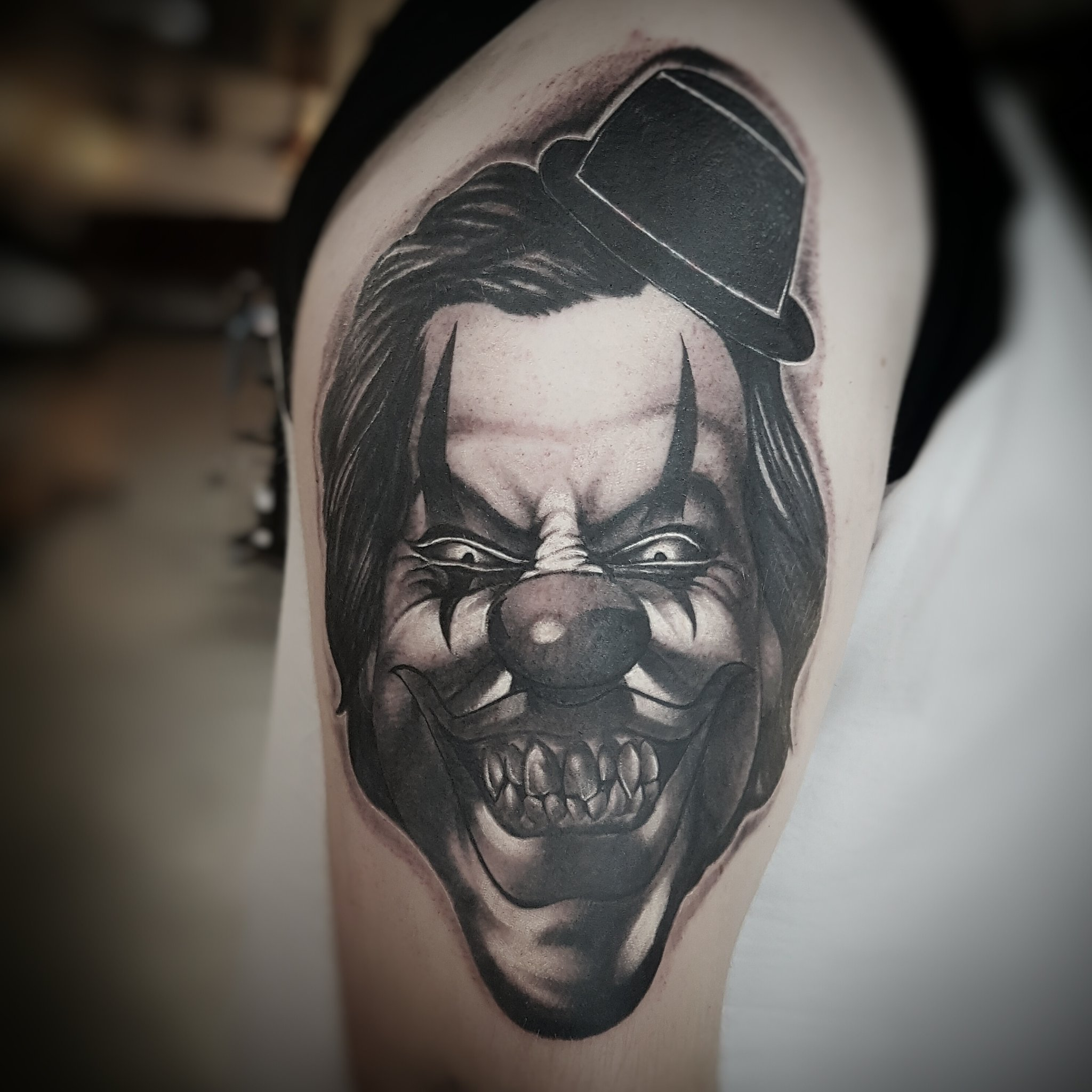 """Jay Hutton Tattoo Fixers: Jay Hutton On Twitter: """"clown Tattoo Cover Up Done On"""