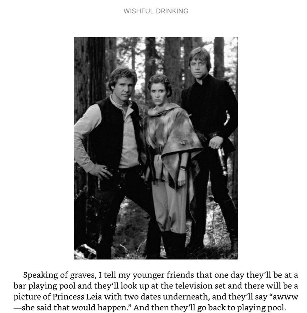 Carrie Fisher fazia piada com a própria morte. Por essas e outras eu amo Carrie Fisher