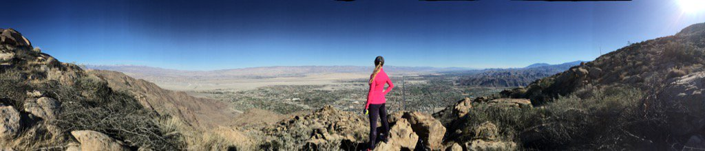 View from 3200 ft up on the Museum Trail in Palm Springs.  #xmasinthedesert #socallife #fitlife #palmspringshiking https://t.co/KJPP8XGJ5s