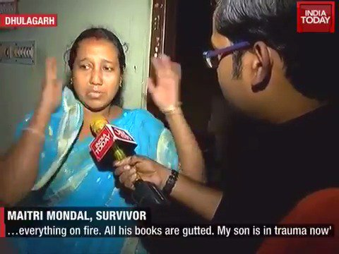 Victims of mindless violence from Dhulagarh narrating their stories is heartbreaking #ITVideo