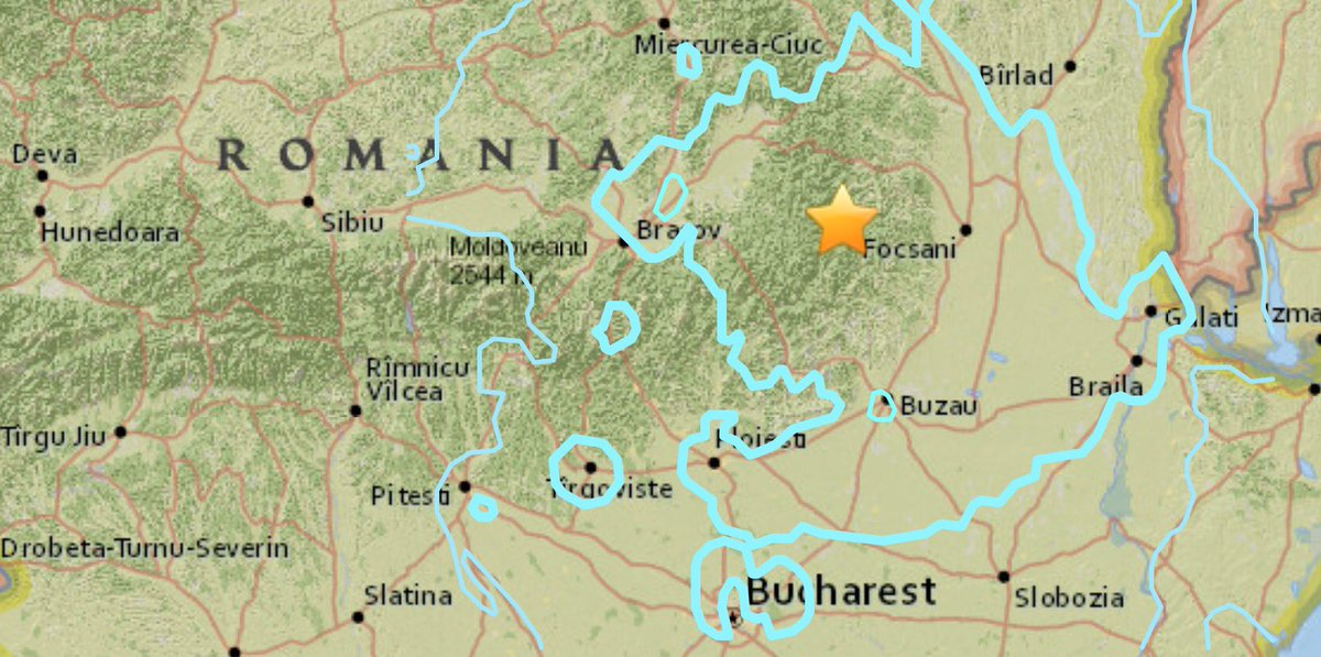 5.6 magnitude earthquake hits near Nereju in eastern Romania, waking residents  and  sparking panic as far away as Bucharest