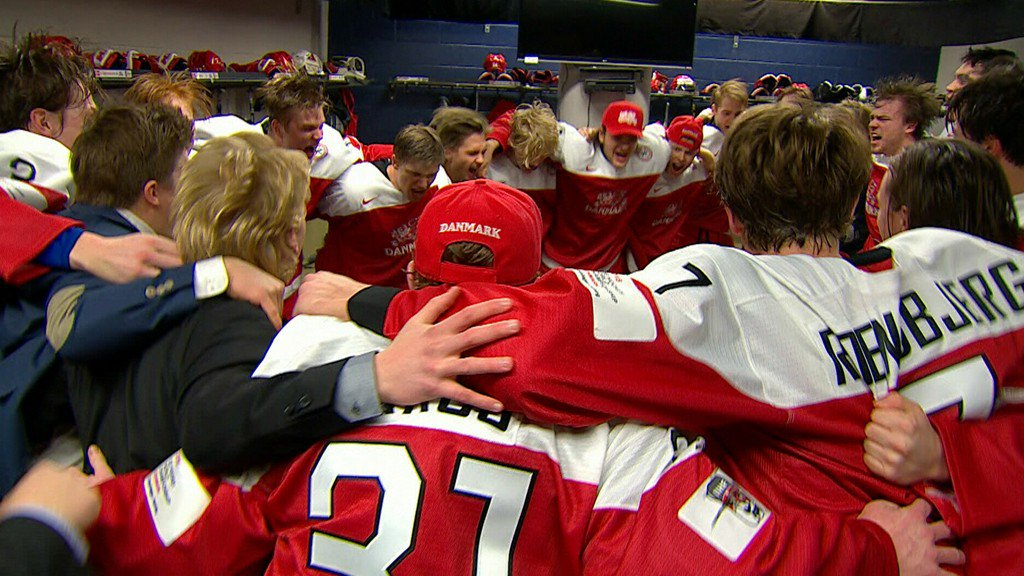 Must See: Denmark celebrates boisterously after upsetting Finland: bit.ly/2iD8ivr