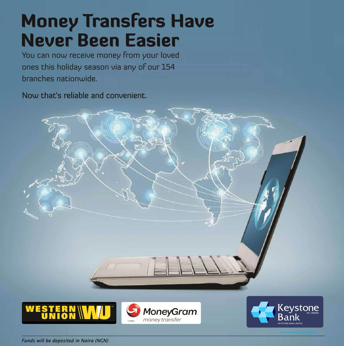 Keystone Bank On Twitter Money Transfer Have Never Been This Easy You Can Now Receive From Your Loved Ones Holiday Season Via Any Of Our 154
