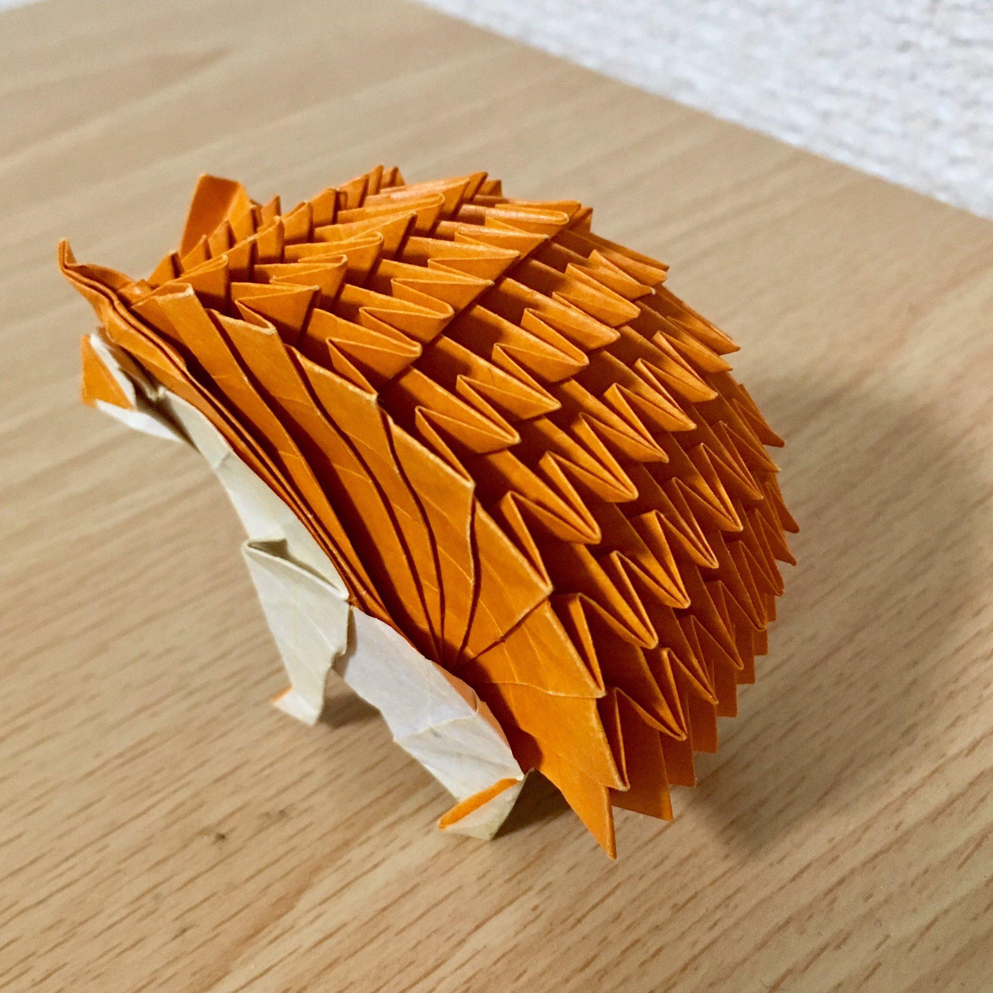 ハリネズミ 折り紙 マイマイさんの「ハリネズミ」 苦戦ポイントを、写真で解説!|まさにぃ|note