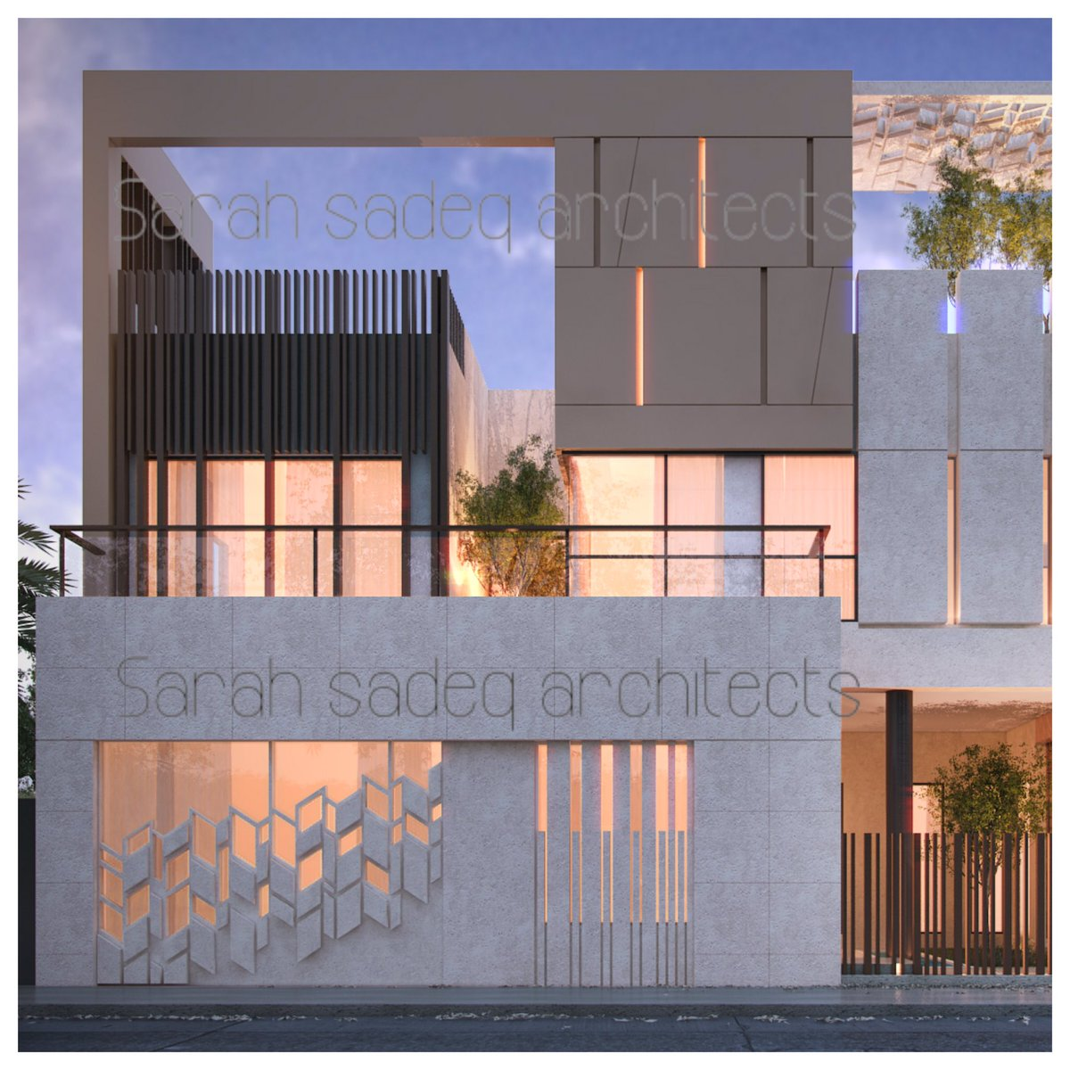"Private Villa Sarah Sadeq Architects Kuwait: Arch. Sarah Sadeq On Twitter: ""500 M Private Villa Kuwait"