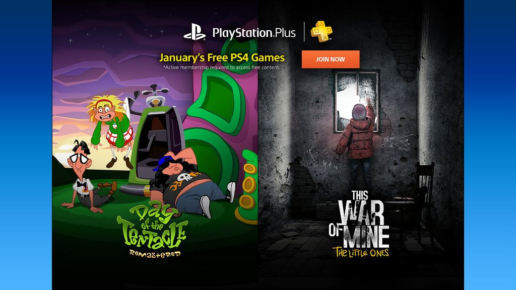 PS Plus free games January 2017