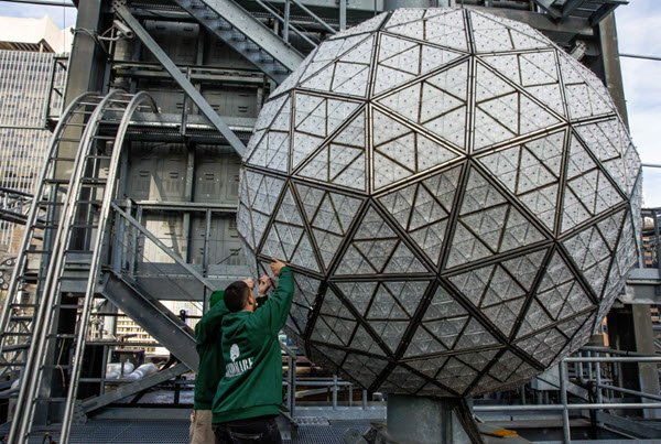 2017 Times Square New Year's Eve Ball unveiled https://t.co/49hRJ7EYJC https://t.co/uaGCtKv8WS