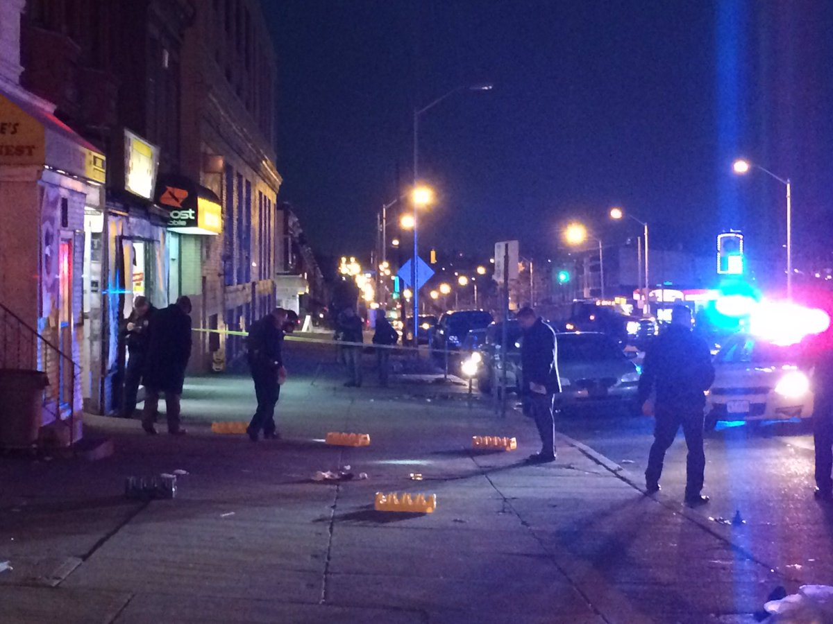 Update: Man shot Friday in 2800 block of Edmondson Ave has died. Identified today by police as 20 yr old QuNas Brandon