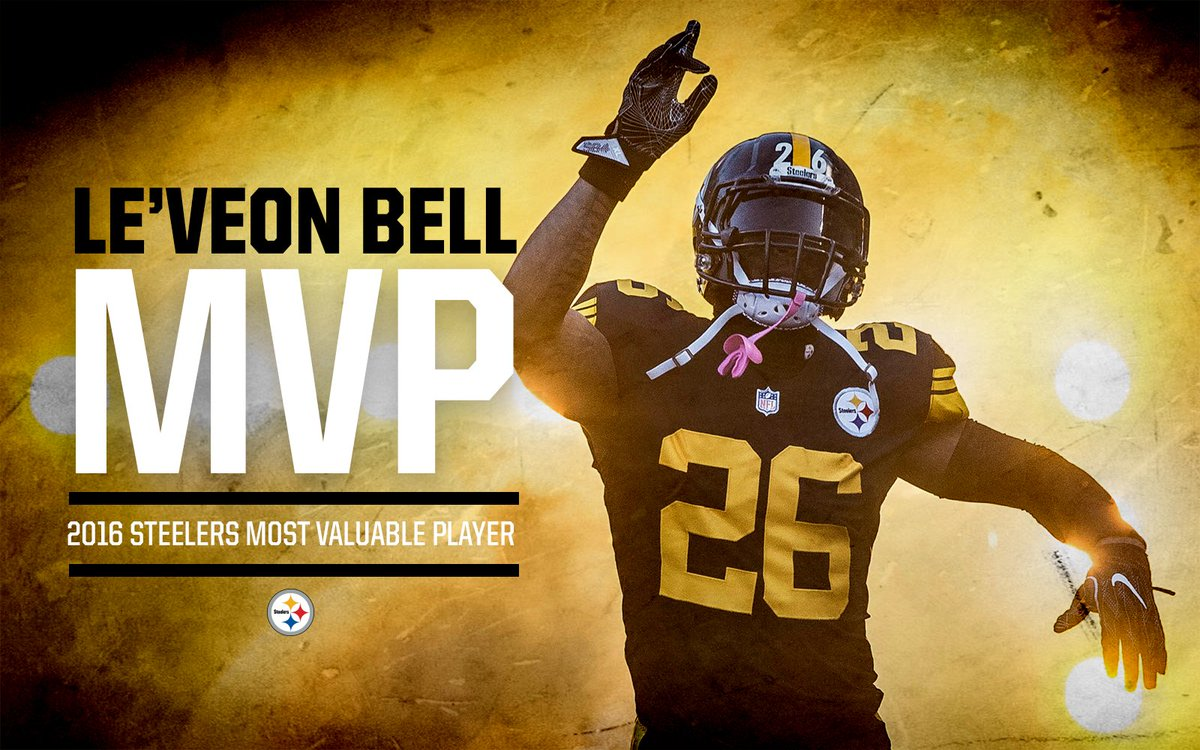 Le'Veon Bell has been named the 2016 #Steelers MVP.  🏆 | https://t.co/D2Q0WJsA1t
