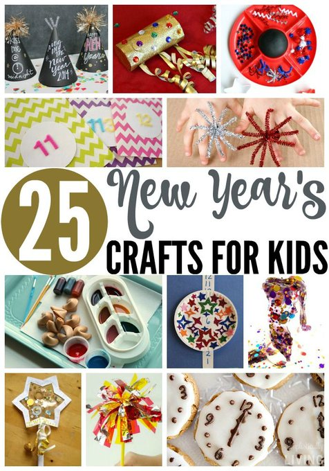 25 New Year's Crafts for Kids