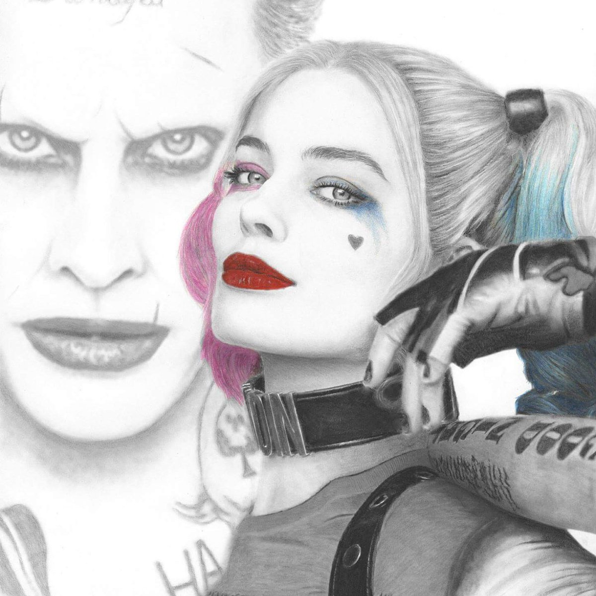 Tonyhallamartist on twitter my suicide squad drawing dccomic