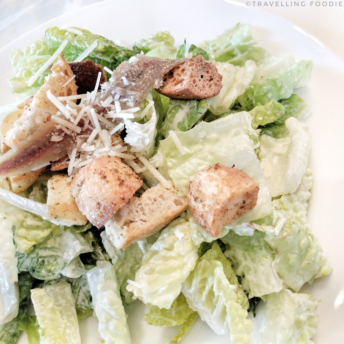 Travelling Foodie Eats Caesar Salad at Bellatrix Restaurant in Classic Club Golf