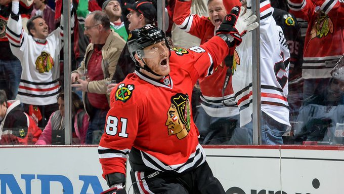 WATCH: Blackhawks' wildest moments from their Stanley Cup ... |Marian Hossa Celebration