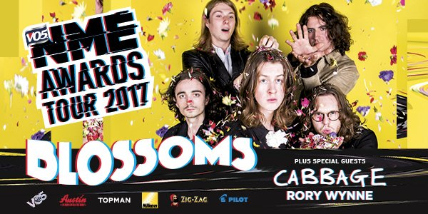 .@Blossomsband to headline @VO5 NME Awards Tour 2017 – tickets on sale now #VO5NMEAwards