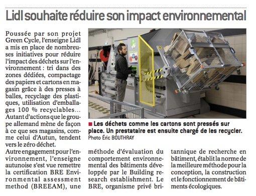 Lidl souhaite réduire son impact environnemental. #lejournaldeSaôneetLoire #environnement <br>http://pic.twitter.com/uLOMeupk82