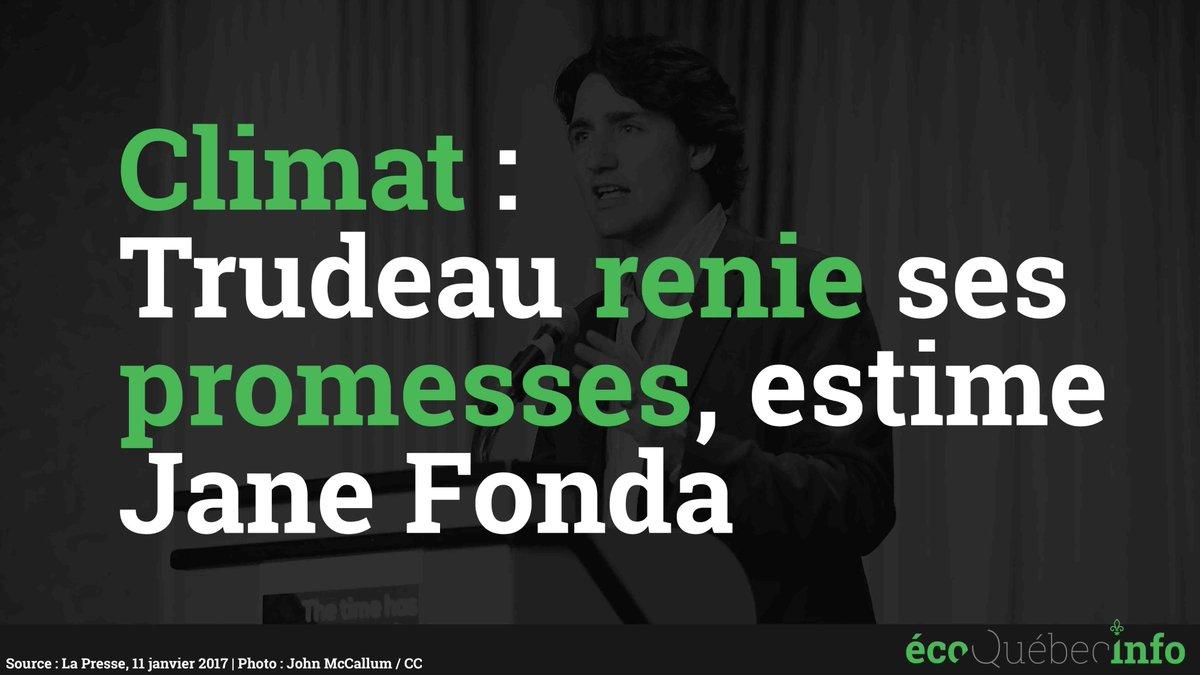 #Climat: Trudeau renie ses promesses, estime Jane Fonda  http:// ecoquebecinfo.com/climat-trudeau -renie-promesses-estime-jane-fonda/ &nbsp; …  #PolQc #Environnement #PolCan #AssNat #ÉnergieEst<br>http://pic.twitter.com/NYYg9OwtpT