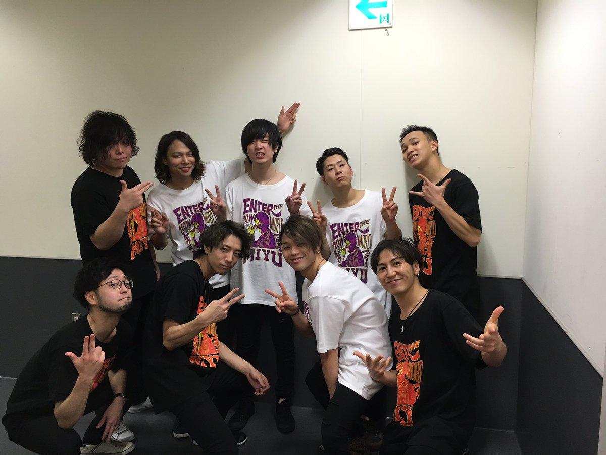 入野自由さんLIVE TOUR 2017 Enter The New World無事終了しましたー♪ お客さんとも近くてめっちゃ楽しかったー!!! wiz バンドメンバー&ダンサーメンバー