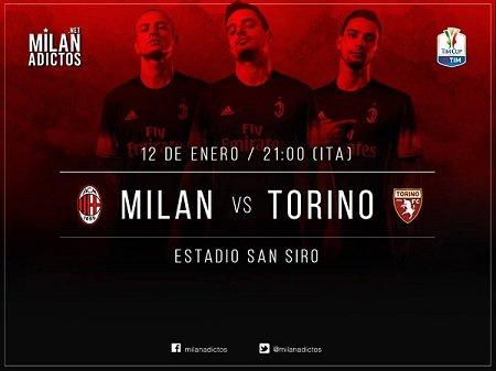 Diretta MILAN-TORINO Streaming gratis Rai Play Rojadirecta TV: dove vederla, ultime notizie, formazioni Coppa Italia oggi 12 gennaio 2017.