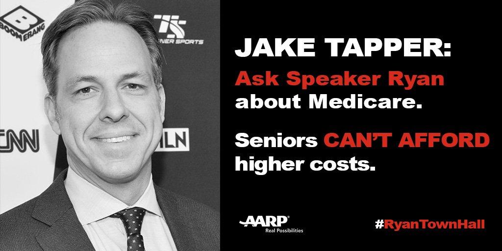 On behalf of millions of Floridians, @JakeTapper we urge you to ask @SpeakerRyan about his #Medicare plan. #RyanTownHall #Sayfie #FlPol<br>http://pic.twitter.com/qurXFZVtJa