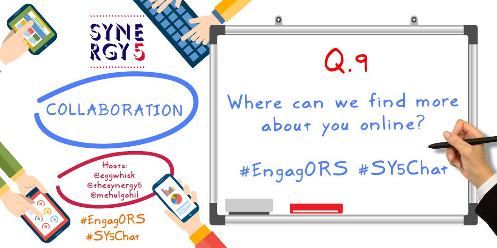 Q9 Time for some self #promotion - Where can we find more about you online? #EngagORS #SY5Chat <br>http://pic.twitter.com/S7ykxuajeH