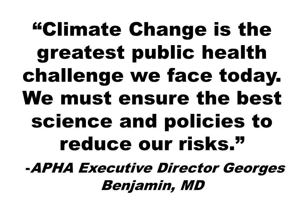 Dr. Benjamin of @PublicHealth begins the Year of Climate Change & Health Kickoff meeting. Follow us all day for more. #ClimateChangesHealth https://t.co/8aBAOEhOy4