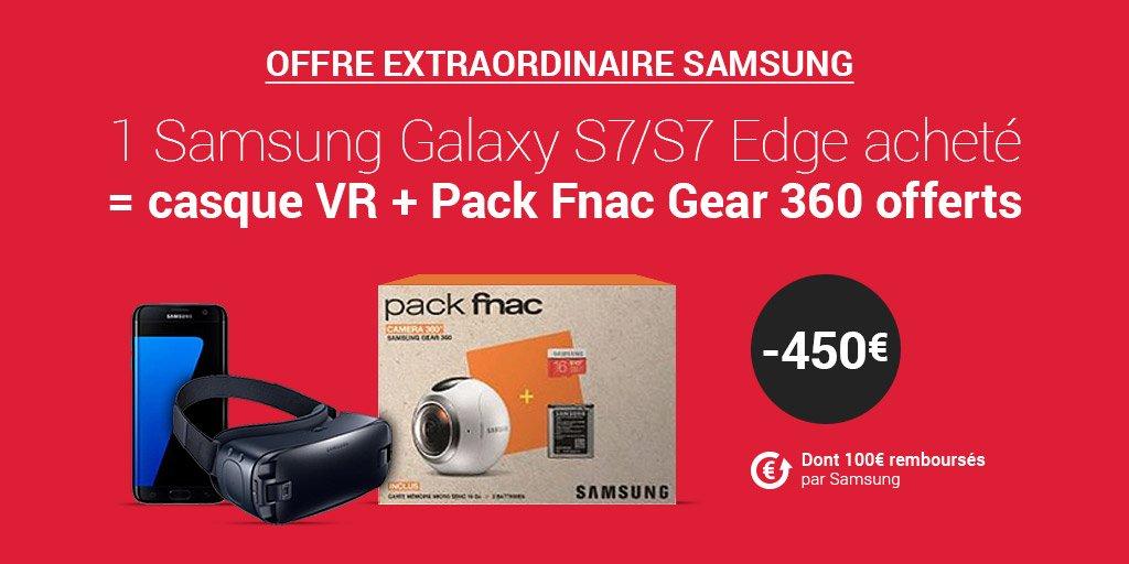#Soldes2017 | Achetez un #Samsung Galaxy S7/S7 Edge et bénéficiez d&#39;un casque #VR + du Pack #Gear 360 offerts !  http:// bit.ly/2jHL9MY  &nbsp;  <br>http://pic.twitter.com/JmTpQzgVFN