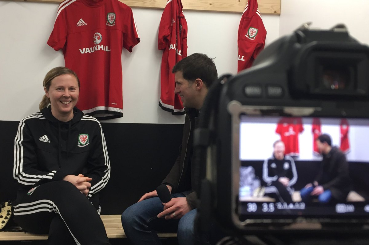 Wales Women&#39;s U17 squad and Assistant Coach @rehanne_skinner busy with media duties today! #TogetherStronger <br>http://pic.twitter.com/Gn0kTwzqth