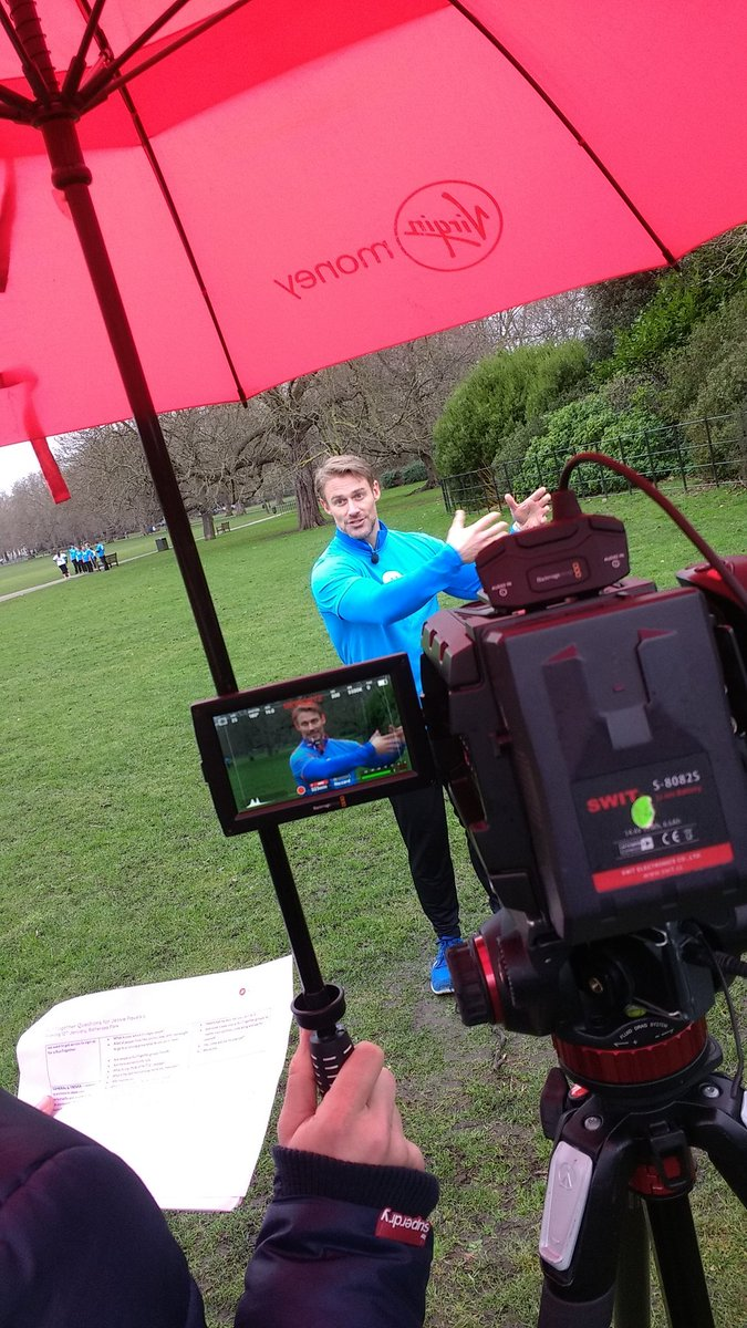 Filming for the haunch of the #runtogether campaign. Check the hashtag to see what it's all about! #ukrunchat