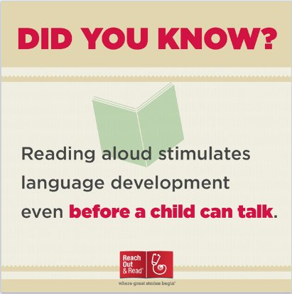 Why read aloud?  Pick up a book today and stimulate language development and early literacy! https://t.co/ebYr819NMY