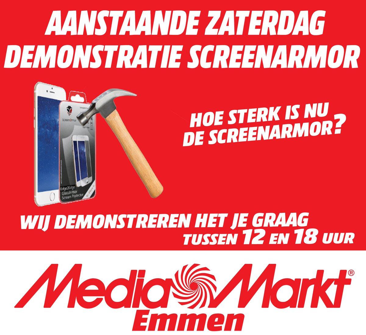 As zaterdag is er een #demonstratie van de #screenarmor Tussen 12 en 18 uur. #mediamarktemmen https://t.co/SkgWbl1dfy