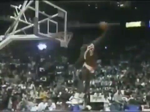Happy 57th birthday to Dominique Wilkins aka The Human Highlight Film!  Listen to the rim on this windmill dunk...