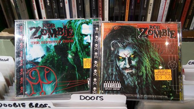 Happy Birthday to rocker and horror movie director Rob Zombie!  Find music from Rob Zombie at Vinyl Bay 777!