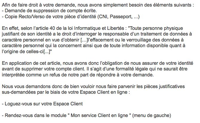 Supprimer un compte chez #Cdiscount ? Croix et bannière cc @CNIL normal ? Rien de plus simple ?<br>http://pic.twitter.com/al88Dc20a2