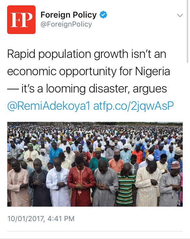 The #reality of #Nigeria. Must read. But weep not for Nigeria, act! Excerpts from @ForeignPolicy https://t.co/yovUZ7osfR
