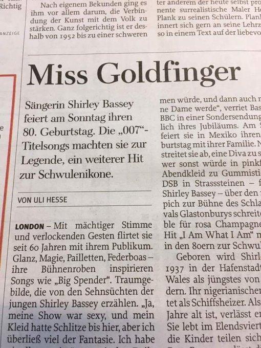 Happy Birthday Lady Shirley Bassey!